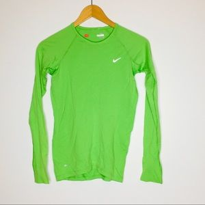 Nike womens drifit long sleeve athletic top size s